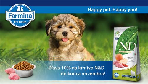 Zľava 10% na krmivo N&D do konca novembra!